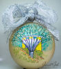 "Picture of 6"" dia Hand painted Glass Ball - Gardens by the Bay - Singapore series Christmas Tree Ornament"
