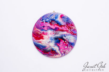 Picture of 10-inch Round - Red Planet - Acrylic Pour Painting