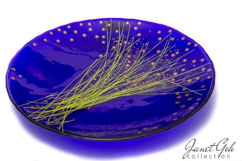 Picture of 17-inch diameter Fused Glass Platter - Harvest