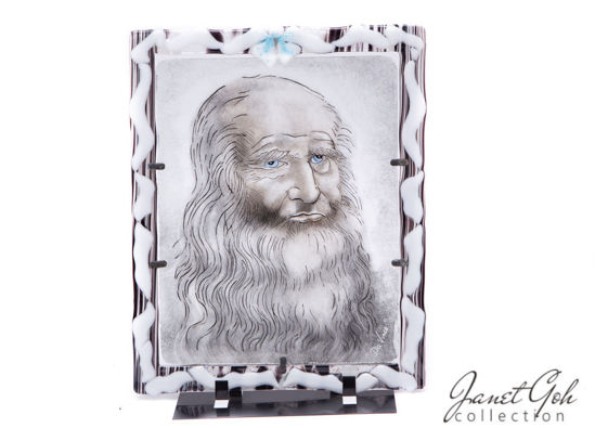 Picture of 12 inch x 14 inch - Fritography with Glass Painting - Da Vinci