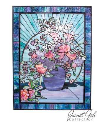 Picture of 24 inch x 32 inch - Glass Mosaic - Vase & Flowers